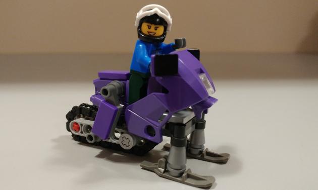 Adorable Lego snowmobile