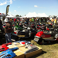 The swap area at Hay Days.