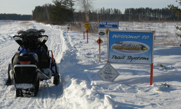 There are over 230 kilometres of groomed trails in the Beausejour area.