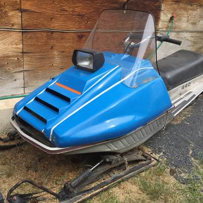 The original power machine, this all-Canadian Sno-Jet sled still looks ready to roll.
