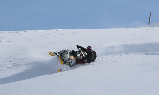 There's plenty of opportunities for snowmobilers to carve up the North Blue region.