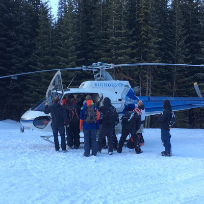 Brad Baber needed to be rescued by helicopter after a nasty snowmobile accident.