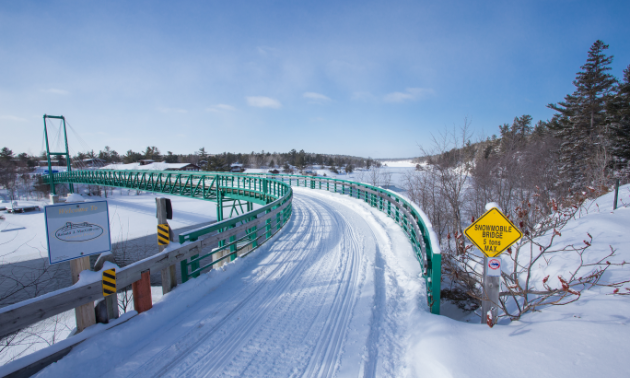Pickerel River Bridge in Ontario on Highway 69 north of Parry Sound on the way to Sudbury.