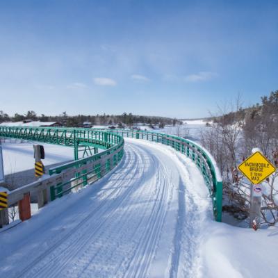 Beaver Trestle Bridge in Cold Lake, Alberta. Rebuilt in June 2016 after a fire.