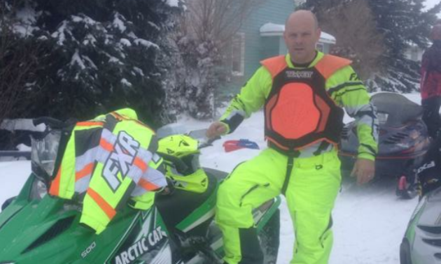 Chest protectors come in various shapes and sizes. Erik Foster prefers high visibility for his chest protector.