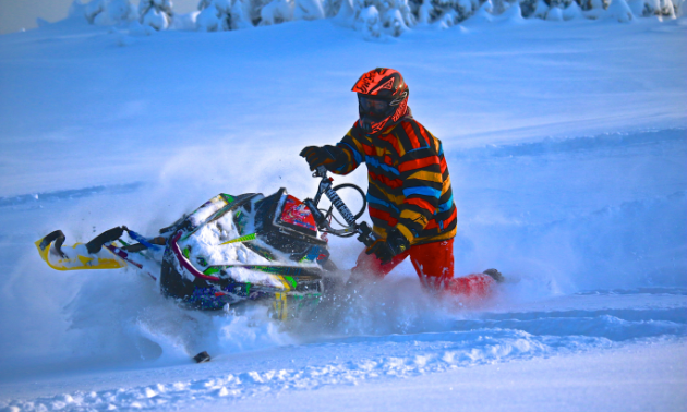 Combining photography with snowmobiling has become a fulfilling passion for Marak.