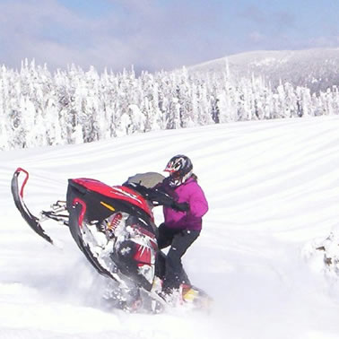 Deanna Gordon, snowmobiler, Fruitvale, B.C.