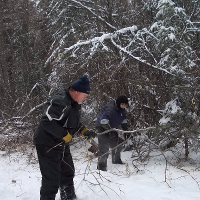 Dale Davis has maintained the snowmobile trails in Westlock, Alberta for many years.