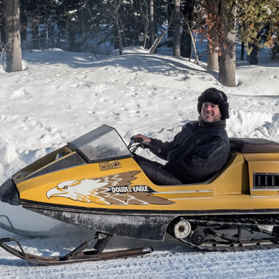 Picture of a Double Eagle Raider snowmobile.