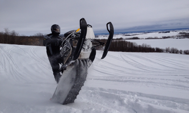 After 43 years of riding, there's not much Andrychuk can't do on a snowmobile.