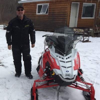 Dwayne Andrychuk has beat boredom by snowmobiling since he was 15 years old.