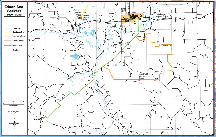 Edson's South Trail Map.
