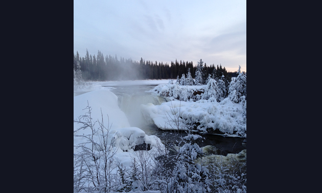 Pisew Falls between Wabowden and Thompson, Manitoba.