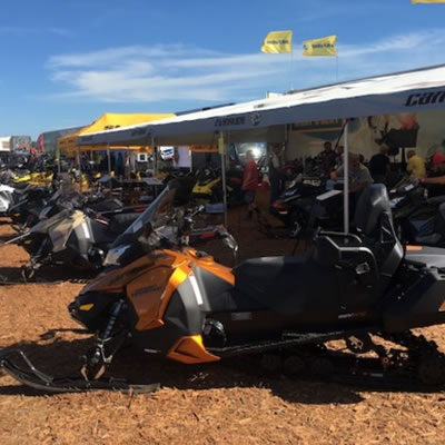 Picture of snowmobile at Hay Days.
