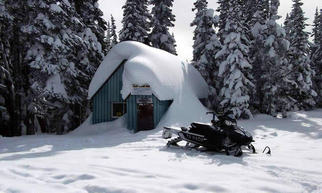 The Houston Snowmobile Club's Clubhouse at Telkwa Range.