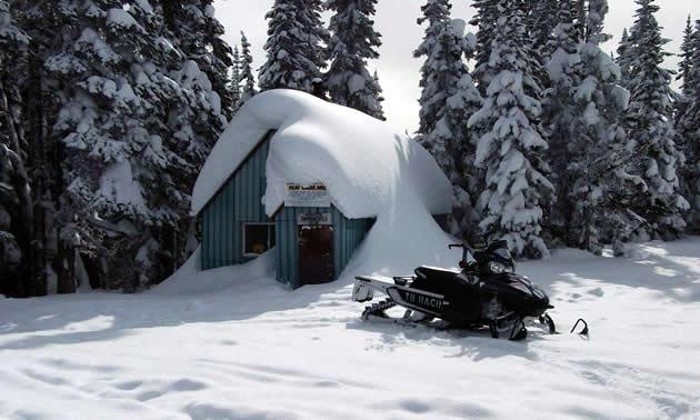 The Houston Snowmobile Club's Clubhouse at Telkwa Range.