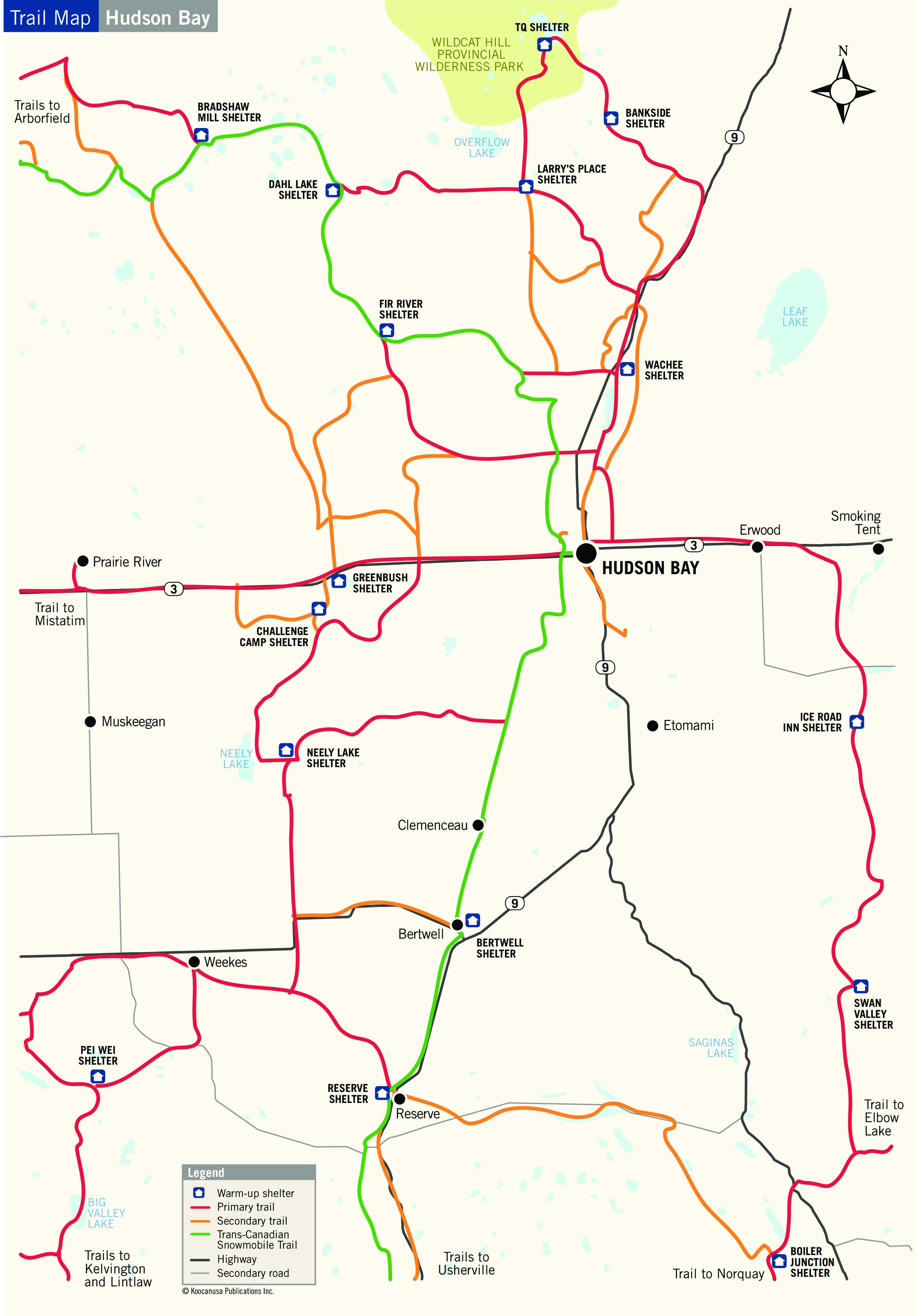 Hudson Bay, SK snowmobile trip planner | SnoRiders