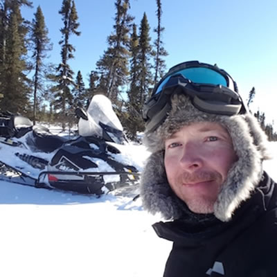 Jeffrey Hann, newest member of the Ski-Doo Brand Ambassador team.