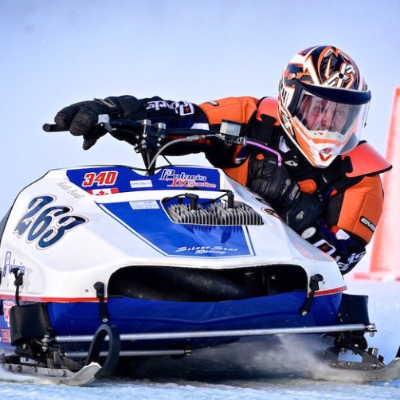 Keith Boxall is racing a vintage sled in Nipawin, Saskatchewan.