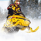 A snowmobiler