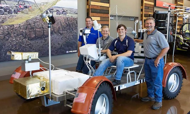 Polaris created a fully-functioning replica of the original Lunar Rover Vehicle (LRV).