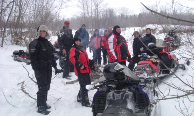 Photo of Snowmobile riders