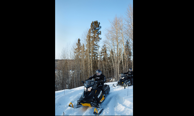 Snowmobiling in Nipawin