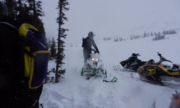 Peter Schlief is always prepared for nasty weather when he hits Swan City's snowmobile trails.