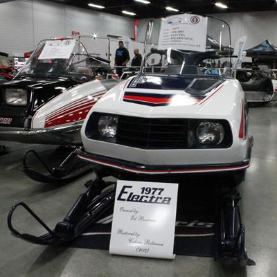 A vintage Polaris Electra sled.