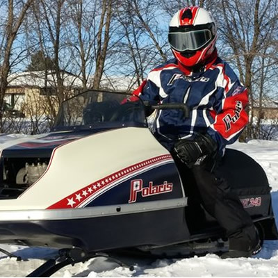 Barry Guindon and his Polaris TXL snowmobile.