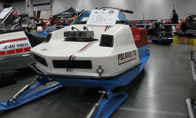 A mint condition Polaris TX, spotted at the recent Edmonton Snow Show.