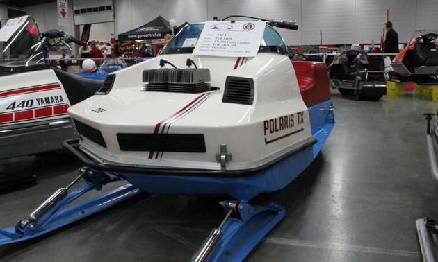 A mint condition Polaris TX, spotted at the recent Edmonton Snow Show.