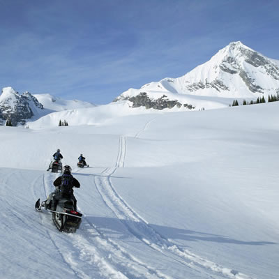 Picture of snowmobilers.