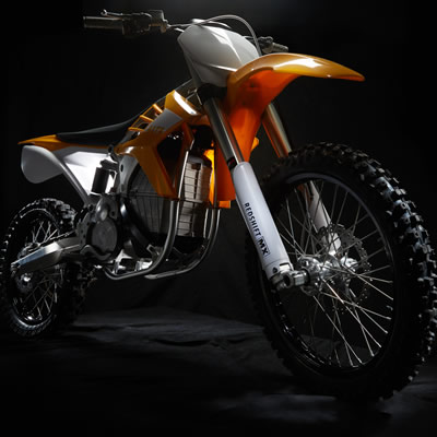 A prototype of the Alta Redshift Electric Motorcycle, BRP has purchased select assets of the defunct company.