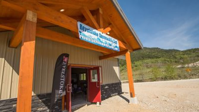 Picture of the Revelstoke Snowmobile Welcome Centre.