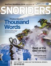 SnoRiders Magazine Fall 2017 Cover