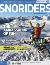 SnoRiders Magazine Fall 2019 Cover