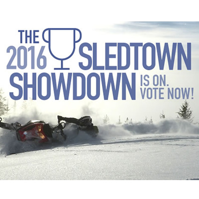 Graphic of the SledTown ShowDown contest.