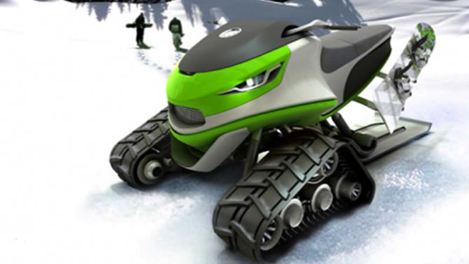 A Dominic Schindler Creations' snowmobile concept.