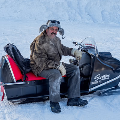 Ray Kelly's pristine condition Scorpion Mark III - 300 model sled.