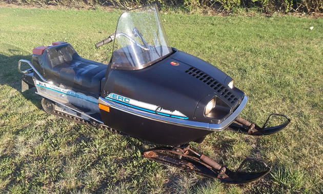 A 1974 Merc S/R snowmobile.