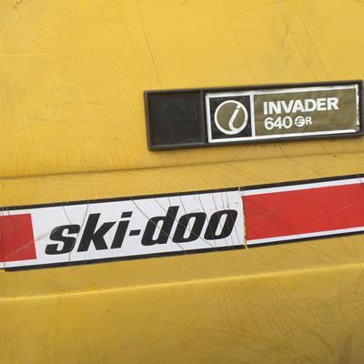 Ski-Doo Alpine Invader nameplate.