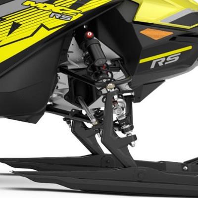 The 2018 Ski-Doo MXZx 600RS E-TEC close-up.