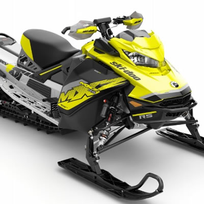 The 2018 Ski-Doo MXZx 600RS E-TEC racing snowmobile.