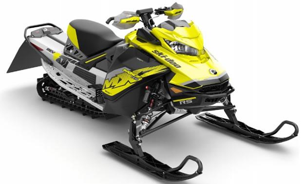 The 2018 Ski-Doo MXZx 600RS E-TEC racing snowmobile.