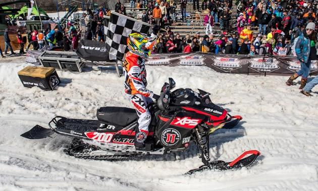 Ski-Doo racer.