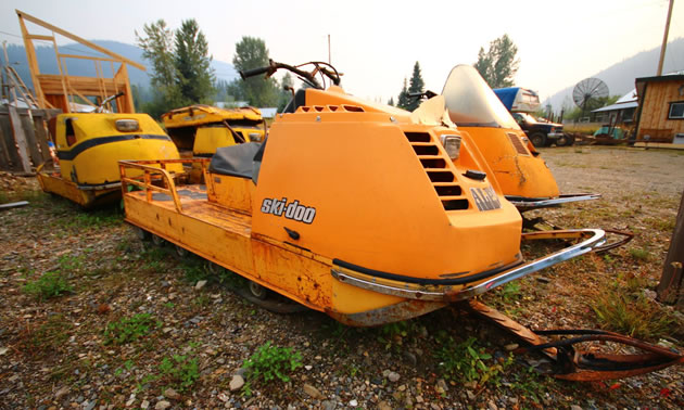 Ski-Doo alpine snowmobile.