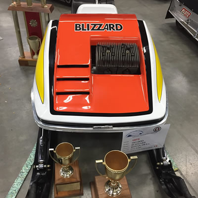Front view of the Ski-Doo Blizzard.