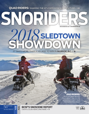 SnoRiders Magazine Mid Winter 2018 Cover
