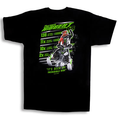Picture of limited edition Incredible Ride t-shirt.